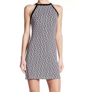 Tart Black and white All Over Print Stretch Dress.